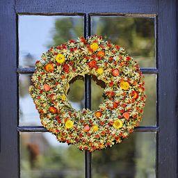 Preserved Safflower Wreath   Terrain