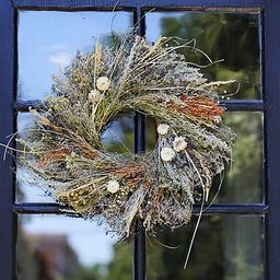 Preserved Purple Oregano + Grasses Wreath   Terrain
