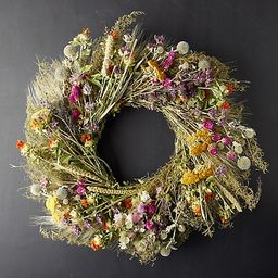 Preserved Perennial Garden Wreath   Terrain