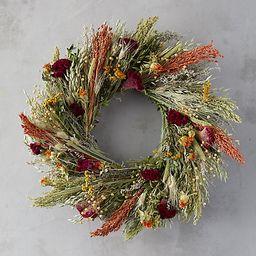 Flax and Safflower Bouquet Wreath   Terrain