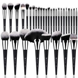 DUcare Professional Makeup Brush Set 32Pcs Makeup Brushes Premium Synthetic Kabuki Foundation Ble...   Amazon (US)