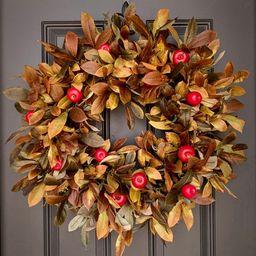 Outdoor Apple Fall Foliage Wreath | Etsy | Etsy (US)