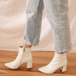Sarai Off White Pointed-Toe Ankle Booties   Lulus (US)