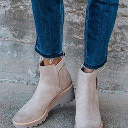 Huey Almond Suede Leather Ankle Boots   Lulus (US)
