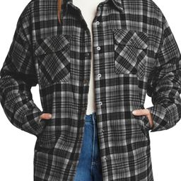 Oversize Snap Front Cotton Shacket | Nordstrom