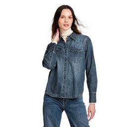 Women's Long Sleeve Denim Button-Down Shirt - Nili Lotan x Target Blue   Target