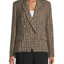 Kenzie Plaid Double-Breasted Blazer | Saks Fifth Avenue OFF 5TH