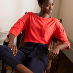 The Cotton Boxy Boatneck Tee | Boden (US)