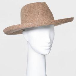 Women's Wide Brim Felt Fedora Hat - Universal Thread™   Target