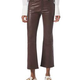 FRAME Le Crop Mini Boot Leather Pants | Neiman Marcus