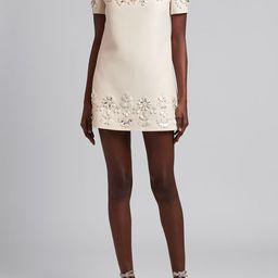 Valentino Floral-Embellished Mini Shift Dress | Bergdorf Goodman