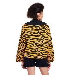 Women's Animal Print Turtleneck Layered Pullover Sweater - Victor Glemaud x Target Gold | Target