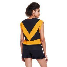 Women's V-Neck Sweater Vest - Victor Glemaud x Target Black/Gold | Target