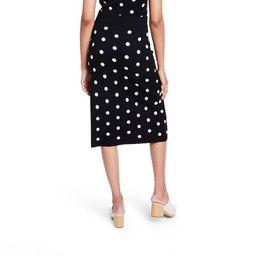 Women's Polka Dot Midi Sweater Skirt - Victor Glemaud x Target Black | Target