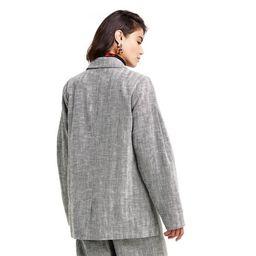 Women's Chevron Oversized Tweed Blazer - Rachel Comey x Target Gray   Target