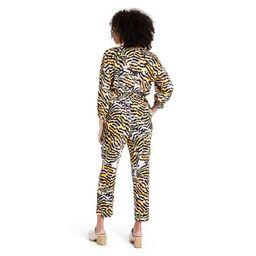 Women's Animal Print 3/4 Sleeve Jumpsuit - Rachel Comey x Target Yellow   Target