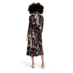 Women's Marble Print Long Sleeve Knit Dress - Rachel Comey x Target Black   Target