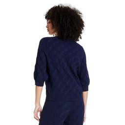 Women's Elbow Sleeve Crewneck Pullover Sweater - Rachel Comey x Target Navy   Target