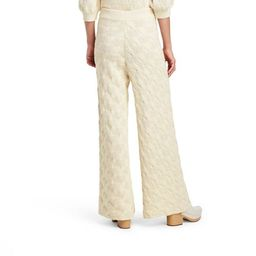 Women's High-Rise Wide Leg Knit Sweater Palazzo Pants - Rachel Comey x Target Ivory   Target