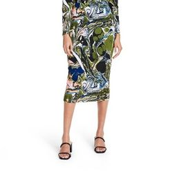 Women's Marble Print Textured Knit Pencil Skirt - Rachel Comey x Target Green | Target
