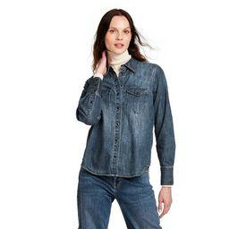 Women's Long Sleeve Denim Button-Down Shirt - Nili Lotan x Target Blue | Target