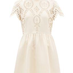 Sangallo-embroidered wool-blend crepe minidress | Valentino | Matchesfashion (Global)