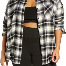 Boyfriend Plaid Flannel Button-Up Shirt | Nordstrom