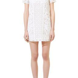 Crochet Short Sleeve Cotton Shift Dress | Nordstrom | Nordstrom