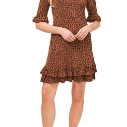 Leopard Print Ruffle Stretch Knit Dress | Nordstrom | Nordstrom