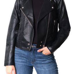 Good Vibes Faux Leather Moto Jacket | Nordstrom