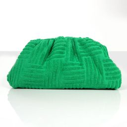 REAL MOOD GREEN TOWELLING CLUTCH BAG | Public Desire