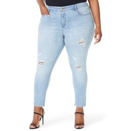 Sofia Jeans by Sofia Vergara Plus Size Rosa High-Rise Curvy Destruction Ankle Jeans | Walmart (US)