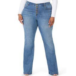 Sofia Jeans by Sofia Vergara Plus Size Melisa High-Rise Flare Jeans | Walmart (US)