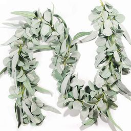 Miracliy Eucalyptus Garland, 6.2ft Artificial Lambs Ear Greenery Vine with Willow Leaves for Wedd...   Amazon (US)