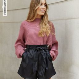 Black Leather-Look Tie Waist Shorts  Add to Saved Items Remove from Saved Items | New Look (UK)