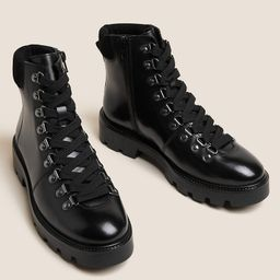 Leather Hiker Lace Up Ankle Boots   Marks & Spencer (UK)