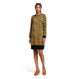 Women's Animal Print Long Sleeve Dress - Victor Glemaud x Target Dark Gold | Target