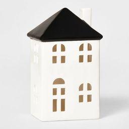 Tall Ceramic House Decorative Figurine White & Black - Wondershop™   Target