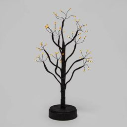 "18"" LED Black Glitter Twig Tree Halloween Decorative Prop - Hyde & EEK! Boutique™   Target"