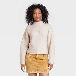 Women's Mock Turtleneck Trek Pullover Sweater - Universal Thread™ | Target