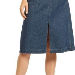 Women's Workwear Collection Denim Midi Skirt   Nordstrom