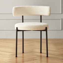 Inesse Boucle Ivory Dining Chair + Reviews | CB2 | CB2
