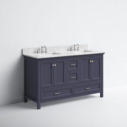 "Kituku 60"" Double Bathroom Vanity Set | Wayfair North America"