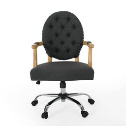 Avens Contemporary Tufted Fabric Swivel Office Lift Chair - Christopher Knight Home   Target