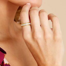 Diamond Band Gold Ring | Red Dress