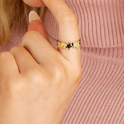 Starry Gold Ring | Red Dress
