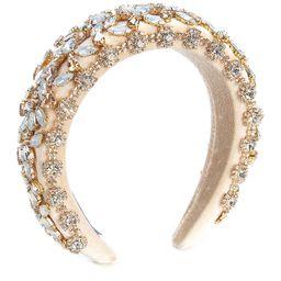 x Nicola Bathie Victoria Jeweled Velvet Headband | Dillards