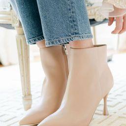 x Nicola Bathie Sarah Leather Dress Booties | Dillards
