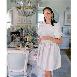 x Nicola Bathie Emily Metallic Jacquard Round Neck Short Sleeve Mini Dress | Dillards