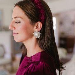x Nicola Bathie Eleanor Pearl CZ Starburst Stud Earrings | Dillards